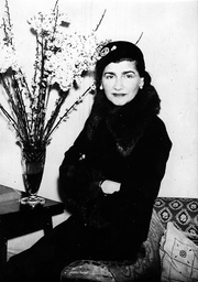 Portrait of fashion designer Coco Chanel on a trip to London