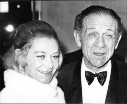 Sid James (dead April 1976) And His Wife Valerie At The Film Premiere Of 'spring And Port Wine'.