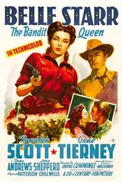 BELLE STARR, top from left: Gene Tierney, Randolph Scott, 1941, TM and Copyright ©20th Century Fox F
