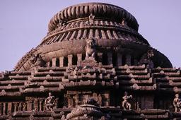 Konarak, Sonnentempel, Dach / Foto - Konarak, Sun Temple, Roof / Photo - Konarak, temple du Soleil, toit