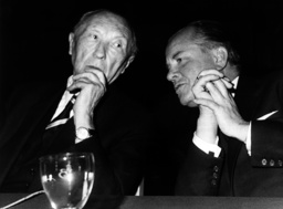 Adenauer during election campaign