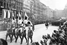 Parade of German troops in Prague, 1939