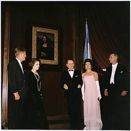 Kennedys Unveil the Mona Lisa in Washington