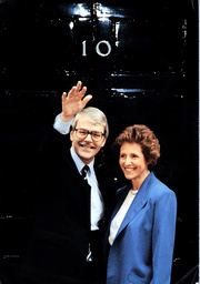 John Major And Norma Outside Number 10 Downing Street After Arriving Back From Buckingham Palace Where Queen Elizabeth Asked Him To Form A New Government After The Resignation Of Margaret Thatcher.