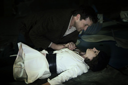 THE LIBRARIAN: THE CURSE OF THE JUDAS CHALICE (aka THE LIBRARIAN 3), from left: Noah Wyle, Stana Kat