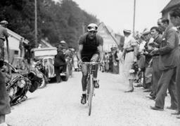 Gino Bartali during the Tour de France, 1937
