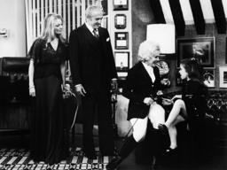 BIG EDDIE, from left: Sheree North, Sheldon Leonard, Eva Gabor, Quinn Cummings in 'Too Many Grandmot