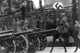 Adolf Hitler with generals at the victory parade in Warsaw, 1939