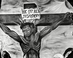 Painting... Black Jesus By Ronald Harrison (1962) This Painting Was Originally Banned In South Africa As 'indecent' The South African Goverment Banned The Painting Of A Coloured Black Christ On The Cross From Being Hung In A Capetown Church In 1962