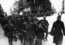 Belgian soldiers after the ceasefire in Belgium, 1940