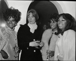 Diana Ross Cindy Birdsong And Mary Wilson Of The Supremes Singing Group With Vanessa Redgrave Actress At Duke And Duchess Of Bedford's (not Pictured) Party 1968.