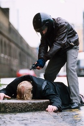 RECONSTRUCTION OF THE ASSASSINATION OF DONALD URQUHART, LONDON, BRITAIN - JAN 1993