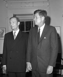 John F. Kennedy meets Vasili Kuznetsov