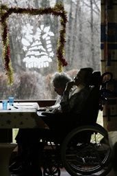 Christmas celebration in an elderly persons' home - A