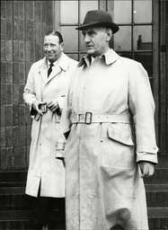 L-r: Supt. Edward White Of Guildford Cid And Supt. B. Gunning Of Dorking Cid - Re: Great Train Robbery Story.