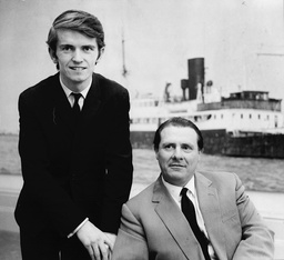 Ronan O'rahilly (left) And Allan Crawford Joint Managing Directors Of Radio Caroline At Their London Office.