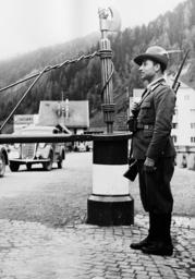 Italian customs official at Brenner, 1938