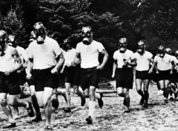 Endurance Run with Gas Masks, 1936