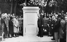 Howard Park In Letchworth Where Mr Cecil Harmsworth Unveiled A Stone Of Remembrance To Sir Ebenezer Howard Who Created Letchworth Garden City.