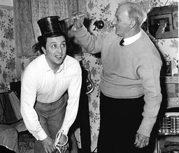 Comedian Ken Dodd In Top Hat With His Father Arthur Dodd In 1962.