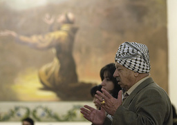 Palestinian Christians attend a special prayer for peace in Gaza, in Ramallah