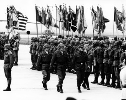 Brigade 75 of the US army arrives in Germany