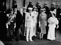 ROOSEVELT KING GEORGE VI QUEEN ELIZABETH WATSON QUALTERS MCINTYRE
