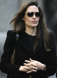 U.S. actress Angelina Jolie takes a walk in downtown Budapest