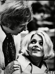 Yet Schaufuss Miss Denmark 1968 With Her Fiance David Garrick