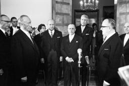 Chancellor Adenauer holds reception