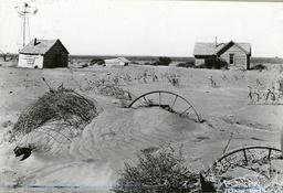 Dürre in Oklahoma, USA, verlassene Farm / Foto 1937 - -