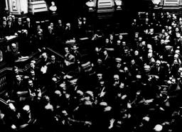 Rumänien, Tumult im Parlament/1936/ Foto - Rumania /Tumult in Parliament 1936/Photo - Roumanie,Altercation au parl./1936/Photo
