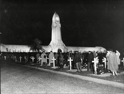 Lighthouse War Memorial At Douamont Cemetery France With Pilgrimage To Visit Heroic Dead Of Verdun 1935.