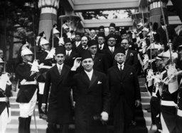 King Faruk I on the World exhibition in Paris, 1937