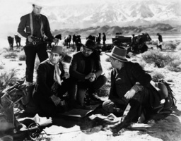First from left John Wayne in one of his numerous B westerns, ca 1930s