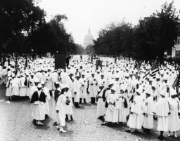 Demo des Ku-Klux-Klan in Washington - Ku-Klux-Klan Demonstration / Washington -
