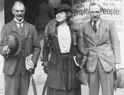 Mr And Mrs Neville Chamberlain At Bristol Where The Conservative Conference Is Being Held With Derrick Gunston (mp For Thornbury) Arthur Neville Chamberlain (18 March 1869 ? 9 November 1940) Was A British Conservative Politician Who Served As Prime M