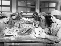 Production of German street signs in Poznan, 1939