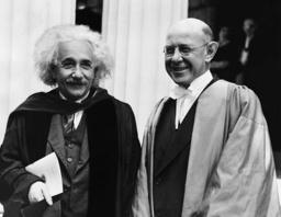 Albert Einstein and Frank Aydelotte, 1936