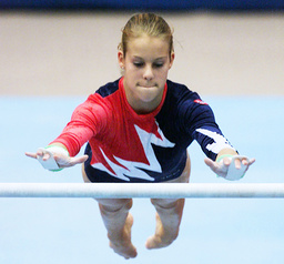 THERESE MEHOLM PERFORMS ON BALANCE BEAM AT TIANJIN GYMNASTICS WORLD CHAMPIONSHIPS