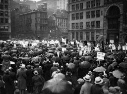 Global economic crisis: Unemployed demonstrators in New York, 1932