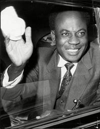 Dr Kwame Nkrumah (died 4/72) Prime Minister Of Ghana Arrives In London For The Commonwealth Prime Minister's Conference.