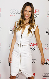Actress Hilary Swank arrives at the opening night gala for AFI Fest 2011 in Hollywood