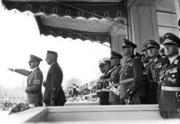 Hitler, Richthofen with legion Condor, 1939