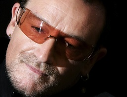 File photo of U2 lead singer Bono arriving for a media launch of the autobiography of the band in central London