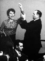 Beate Klarsfeld in the Bundestag in Bonn 1968