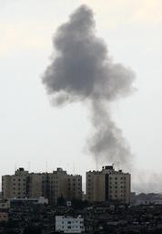 Smoke rises after Israel air strike in Gaza