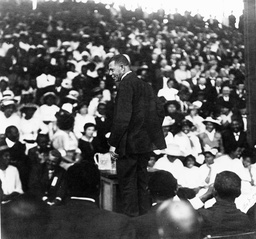 Magnetic Leader Booker T. Washington during a speech in New Orleans
