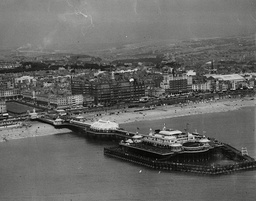 An Aerial View Of Brighton Beach Showing The West Pier