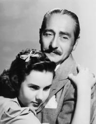 ONE HUNDRED MEN AND A GIRL, from left: Deanna Durbin, Adolphe Menjou, 1937